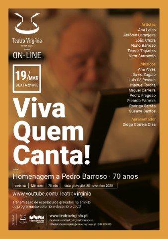 Viva quem Canta . concerto de homenagem a Pedro Barroso (transmissão)