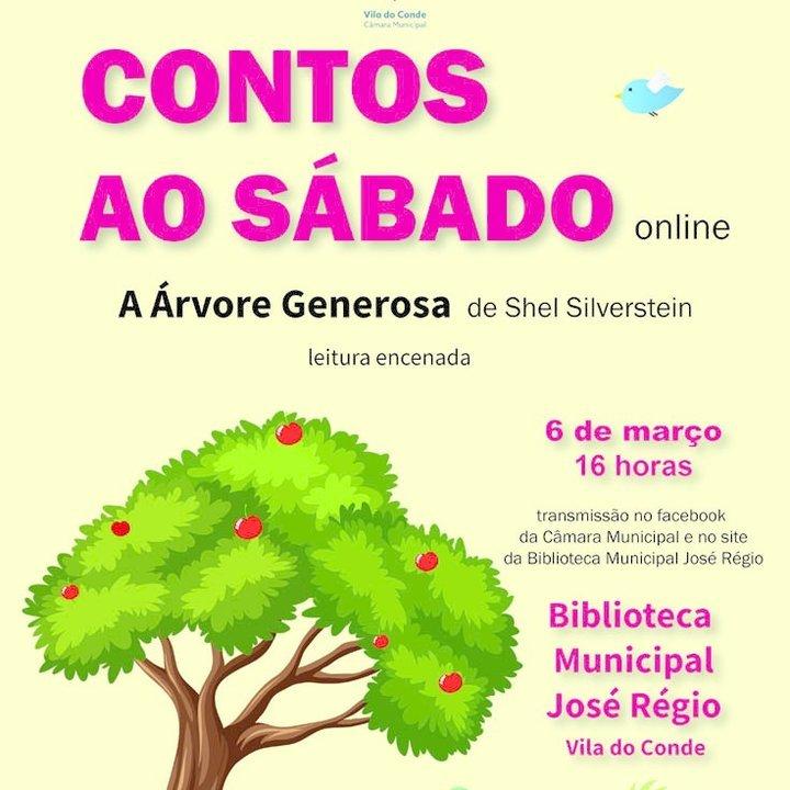 'A Árvore Generosa' nos Contos ao Sábado - evento online