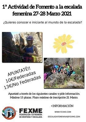 1ª ACTIVIDAD GRUPO FEMENINO DE ESCALADA DEPORTIVA