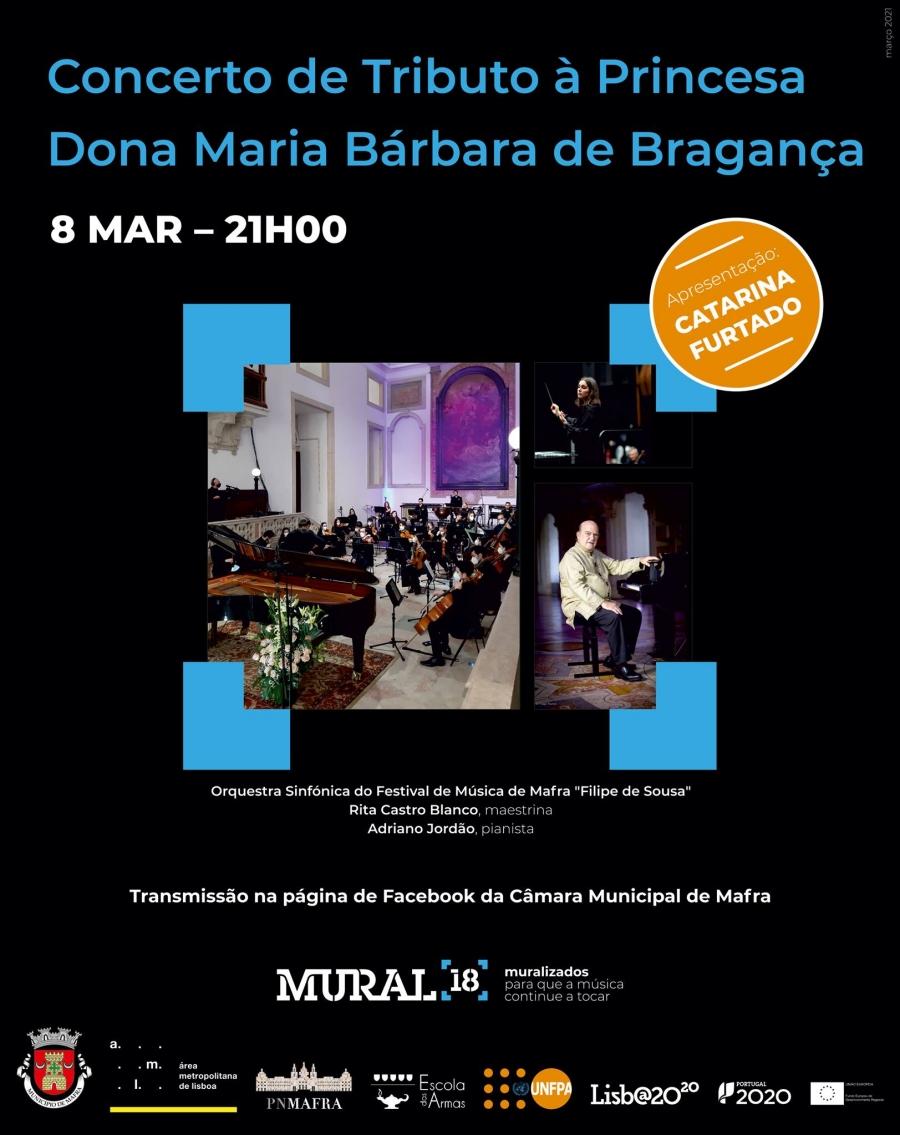 Concerto de Tributo à Princesa Dona Maria Bárbara de Bragança