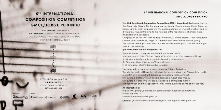 V Concurso Internacional de Composição GMCL/Jorge Peixinho - ...