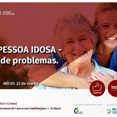 Formação Gratuita - Saúde na Pessoa Idosa - Prevenção de Problemas