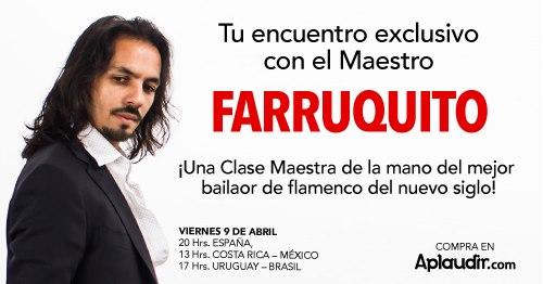 EXCLUSIVA MASTER CLASS CON FARRUQUITO NUEVA OPORTUNIDAD