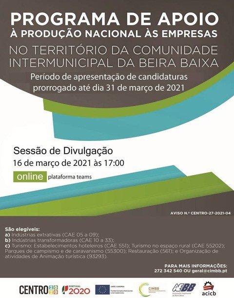 Sessão de Divulgação: Programa de Apoio à Produção Nacional