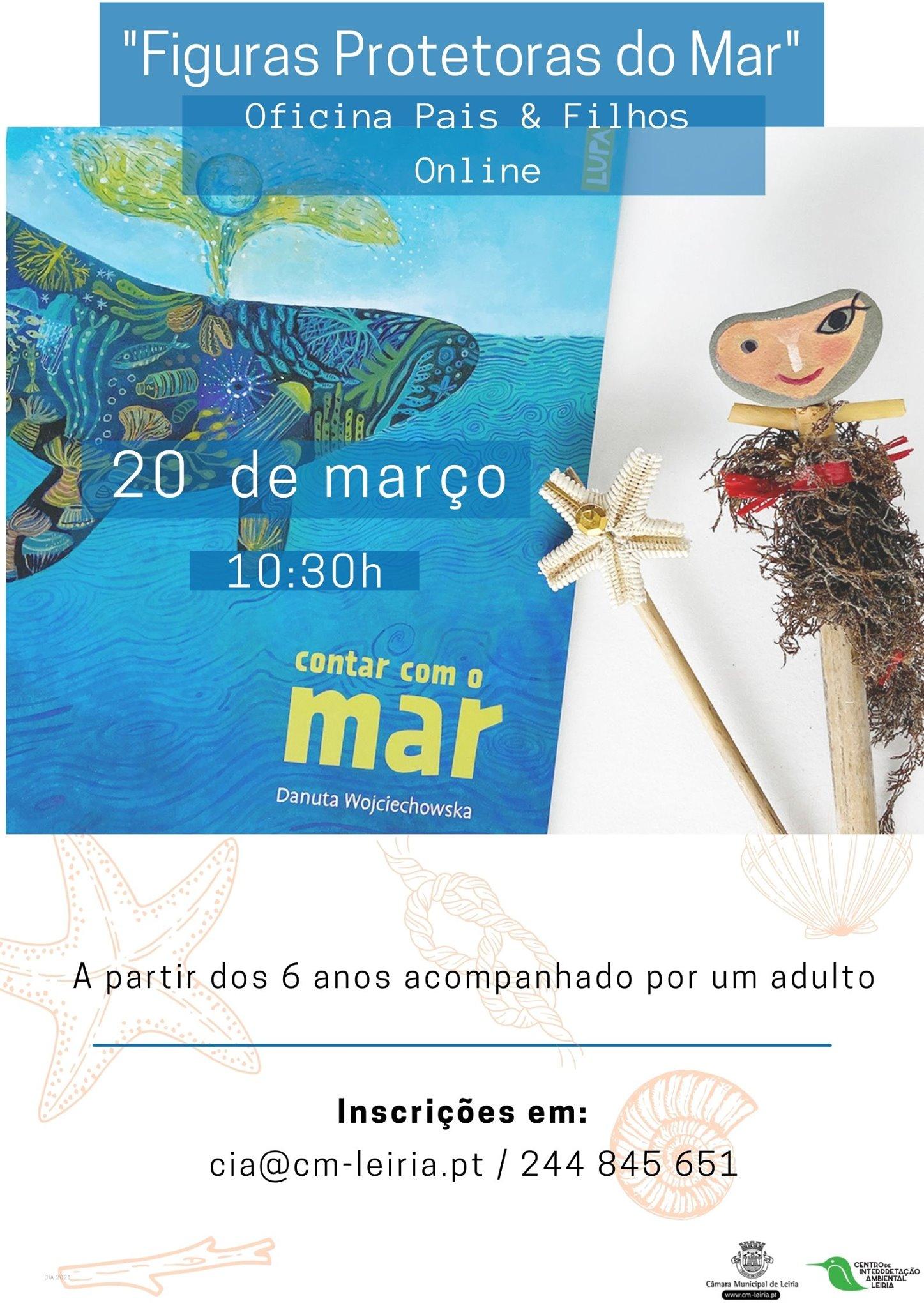 'Figuras protetoras do Mar' - Oficina Pais & Filhos