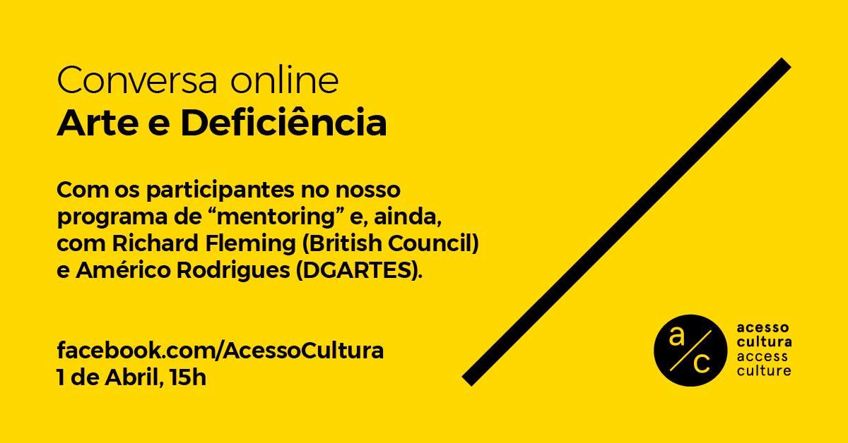 Conversa online: Arte e Deficiência