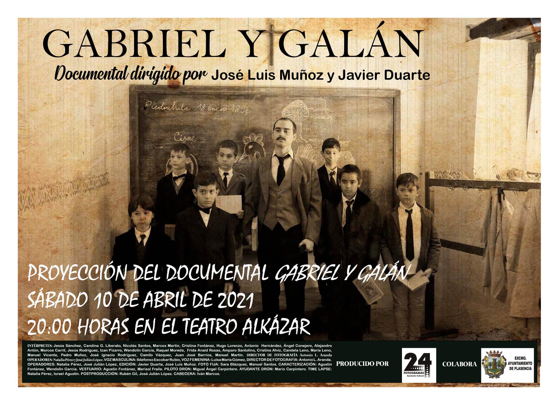 Estreno del documental 'Gabriel y Galán'