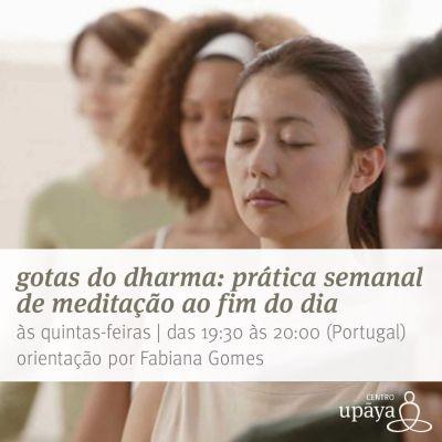Gotas do Dharma: prática de meditação online | quintas-feiras às 19h30