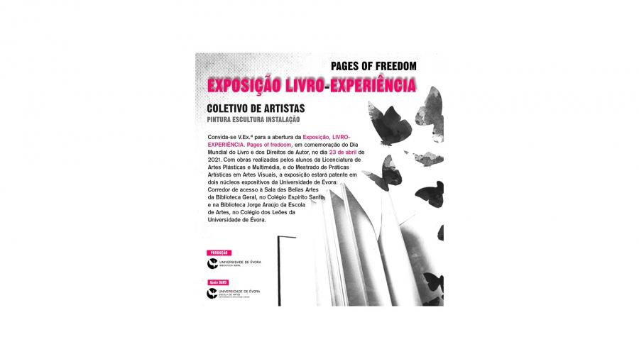 Exposição LIVRO-EXPERIÊNCIA. pages of freedom