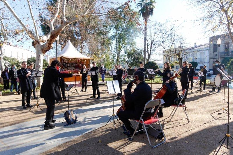 Actuación de la Banda de Música de Mérida