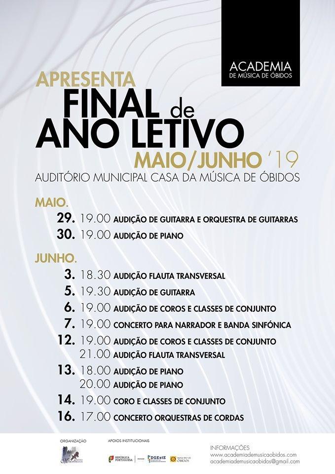 Final de Ano Lectivo  Audições/Concertos