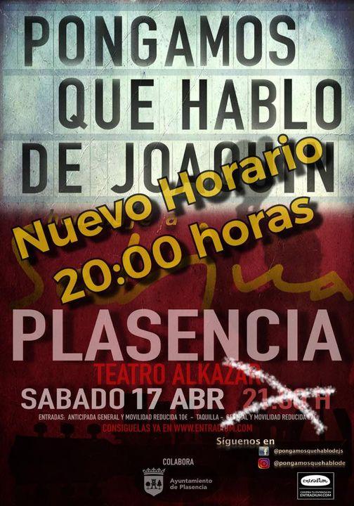 Homenaje a Sabina en Teatro Alkazar Plasencia
