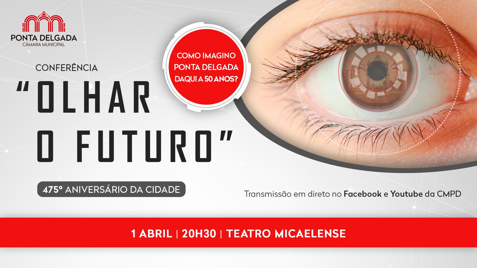 Conferência 'Olhar o Futuro' - Como imagino Ponta Delgada daqui a 50 anos?