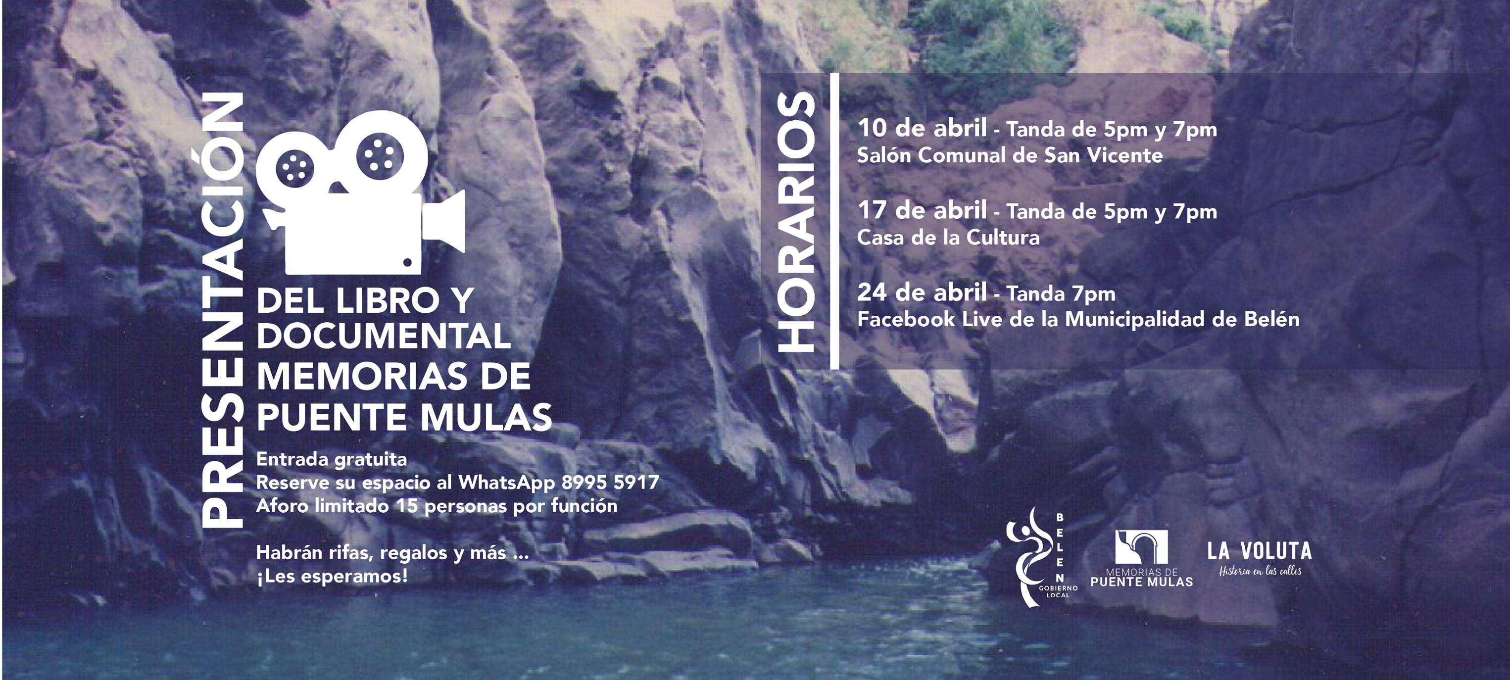 Presentación del libro y documental Memorias de Puente Mulas