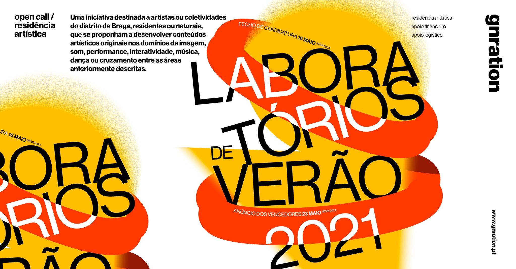 Laboratórios de Verão 2021 - open call | gnration