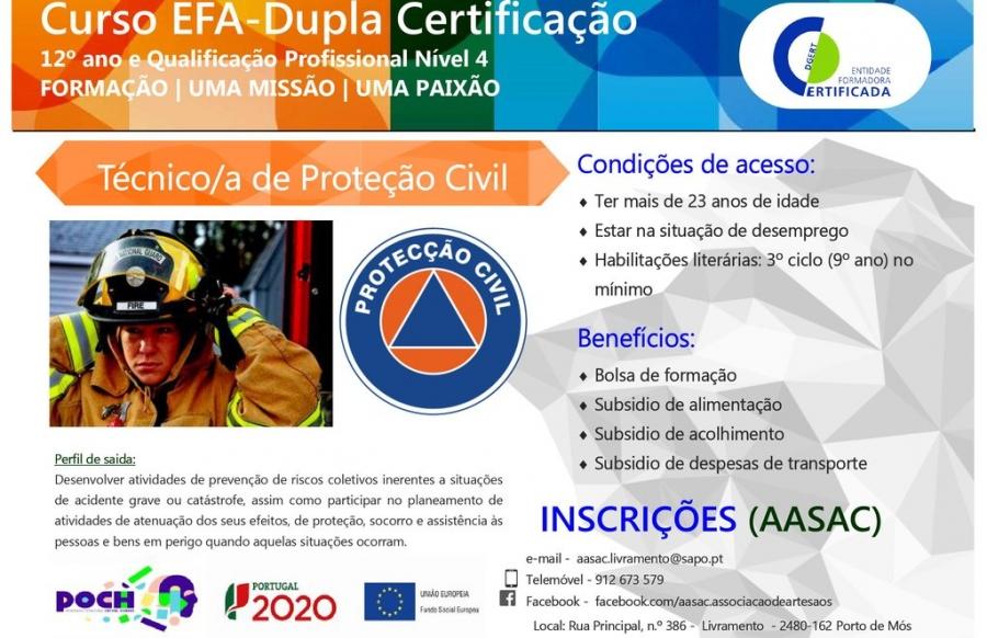 Formação - Técnico de Proteção Civil