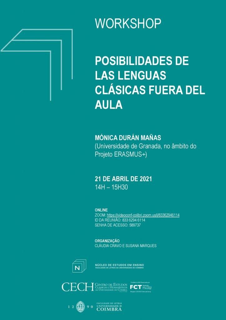"""Workshop """"Posibilidades de las lenguas clásicas fuera del aula"""""""