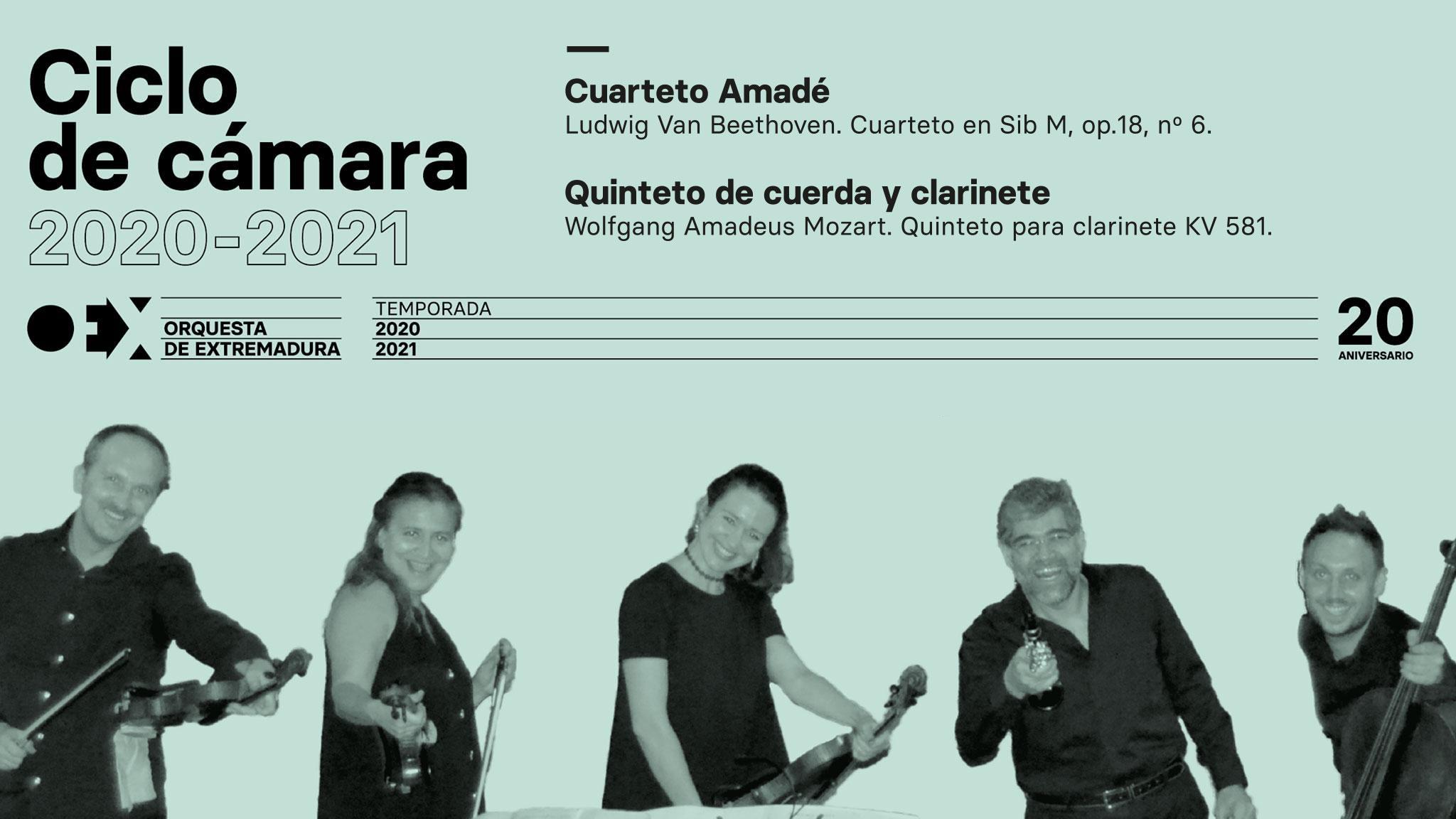 Cuarteto de cuerda y clarinete