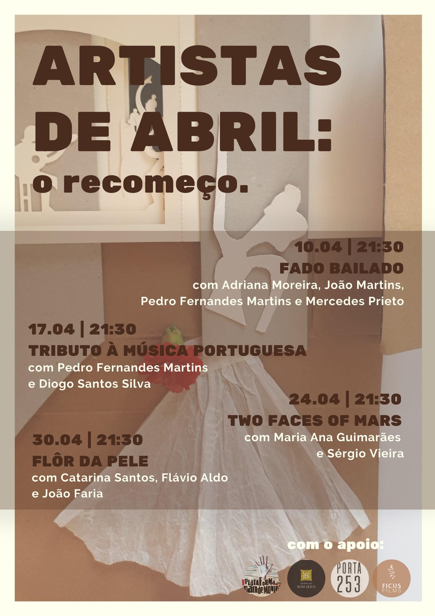 Artistas de Abril: o recomeço   'TRIBUTO À MÚSICA PORTUGUESA'