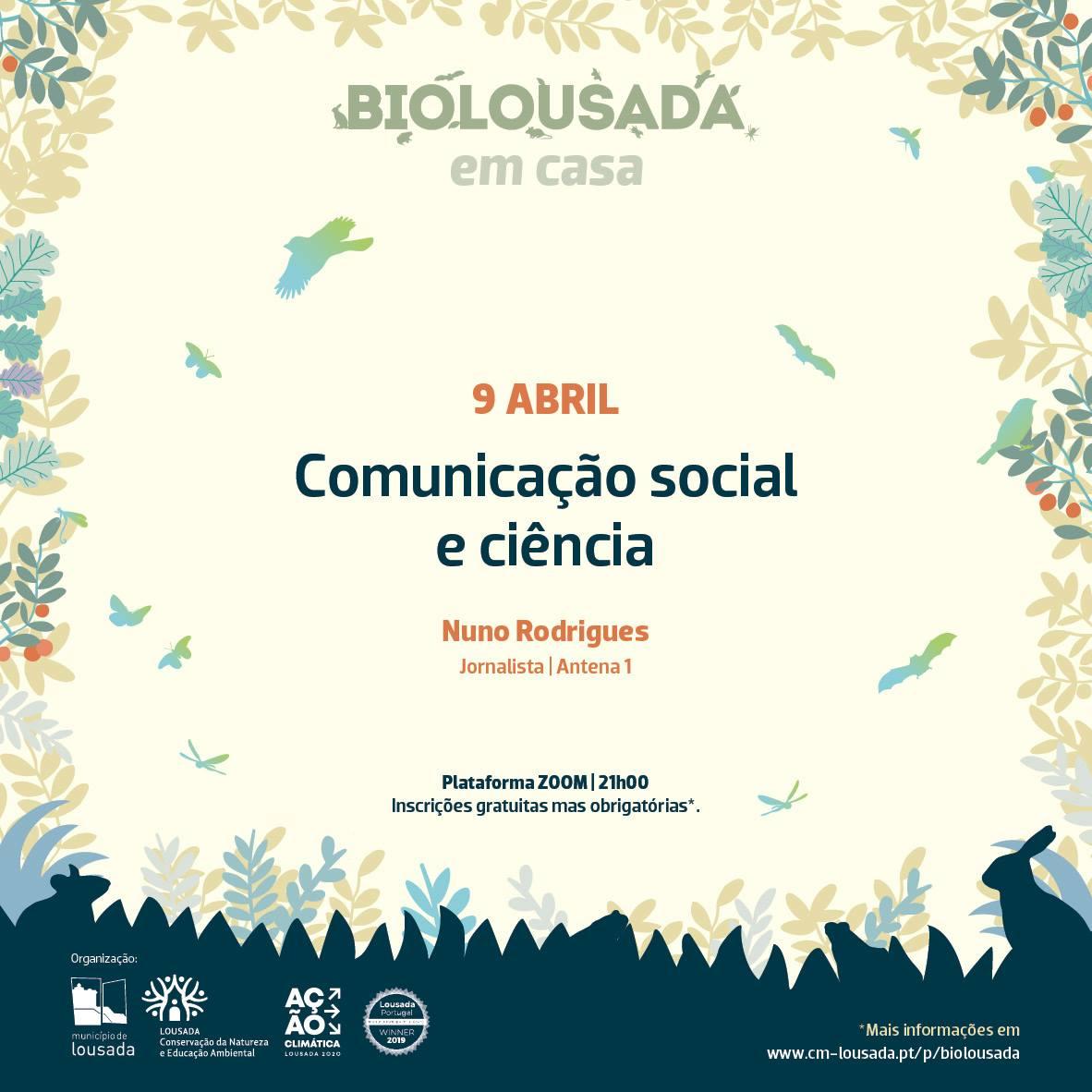 BioLousada em Casa - Comunicação social e ciência