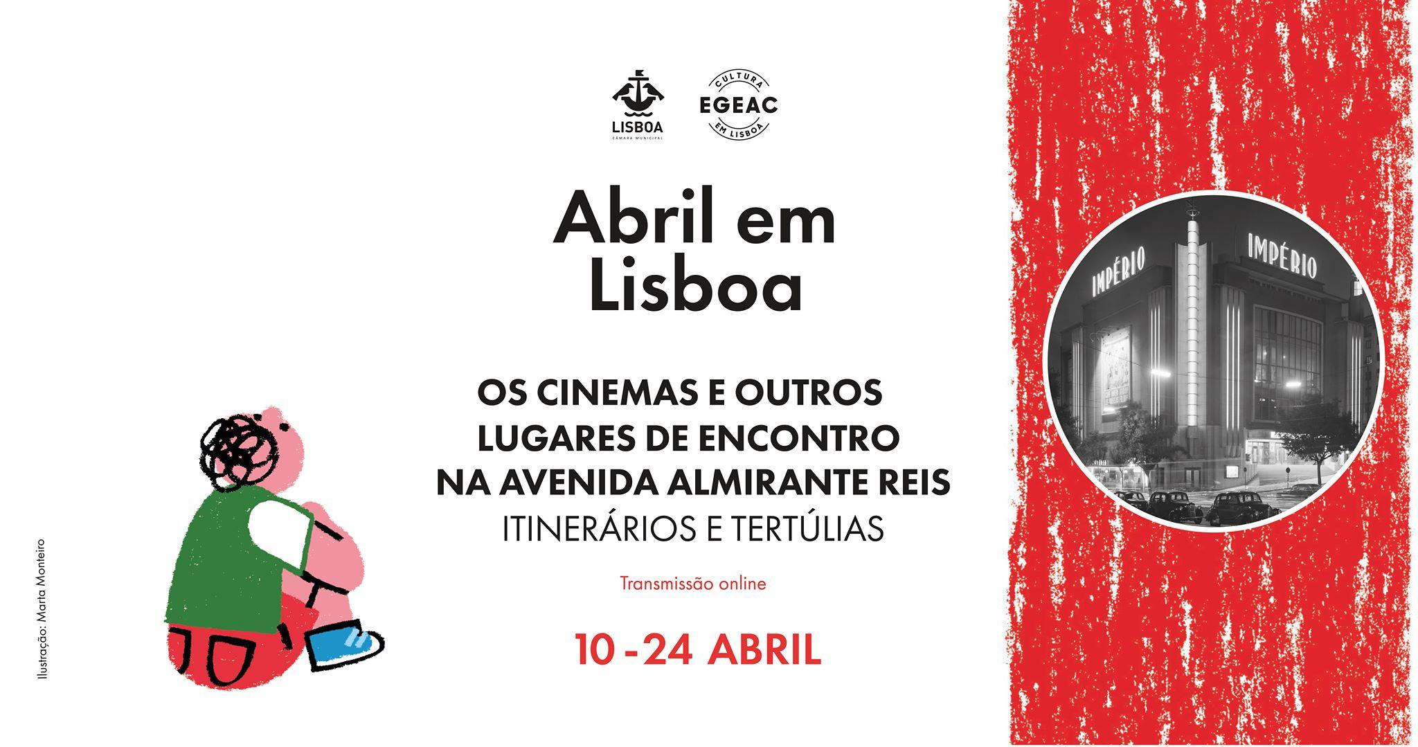 Itinerário e Tertúlias - Os cinemas e outros lugares de encontro na Avenida Almirante Reis