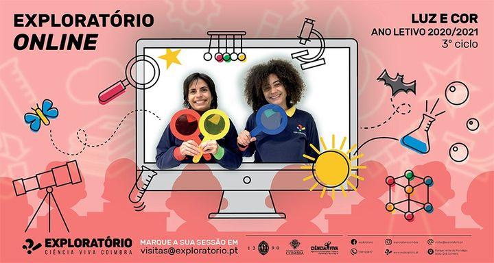 Exploratório Online - Workshops de Ciência - Luz e cor