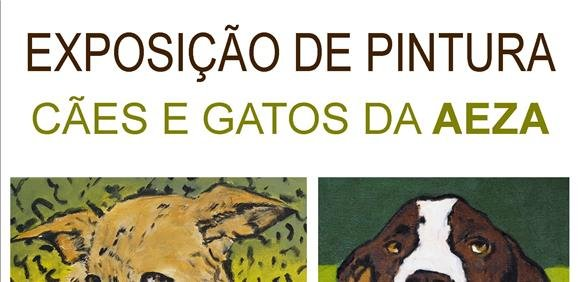 Exposição de Pintura 'Cães e Gatos da AEZA', de Luís Martinho