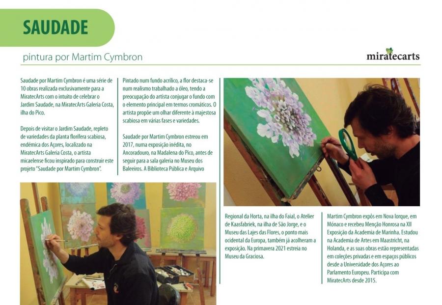 Exposição de pintura 'Saudade' de Martim Cymbron