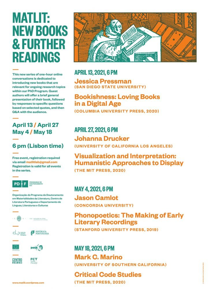 "Ciclo de Videoconferências ""MATLIT: New Books & Further Readings"""