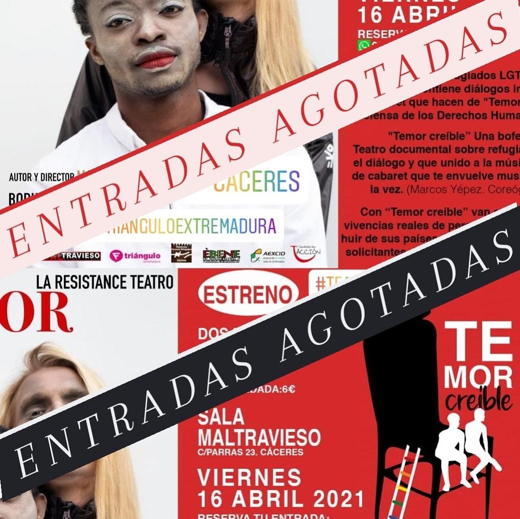 """""""TEMOR CREÍBLE"""" de La Resistance Teatro"""