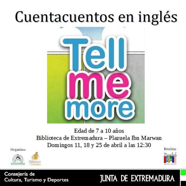 Cuentacuentos en Inglés - Tell me more