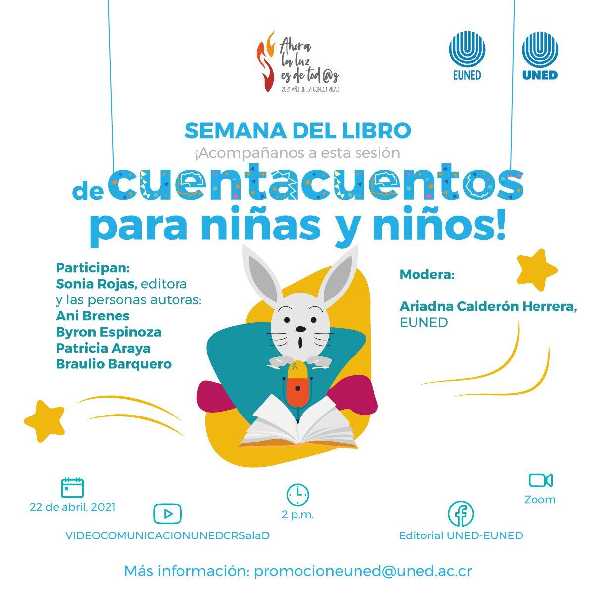 Sesión de cuentacuentos para niñas y niños