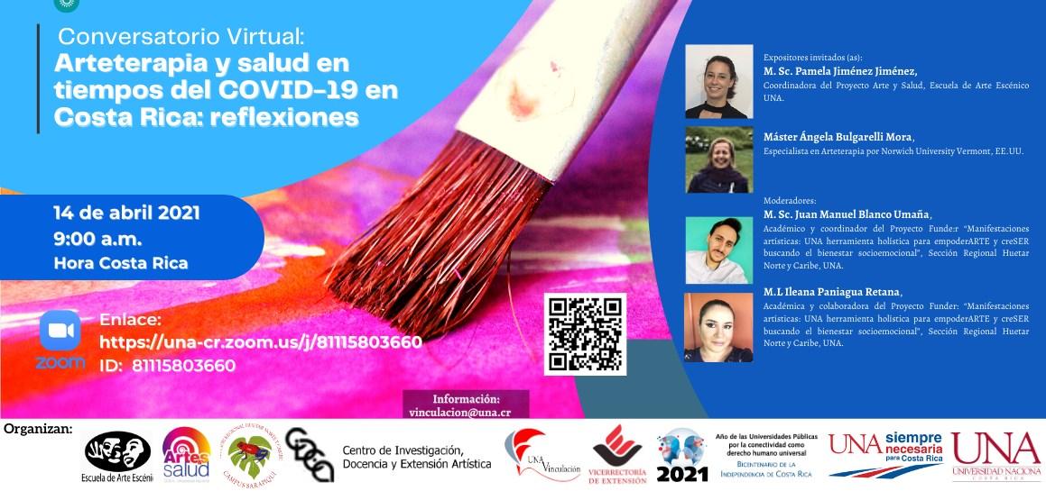 Conversatorio virtual: Artes y Salud en tiempos de Covid 19 en Costa Rica: reflexiones