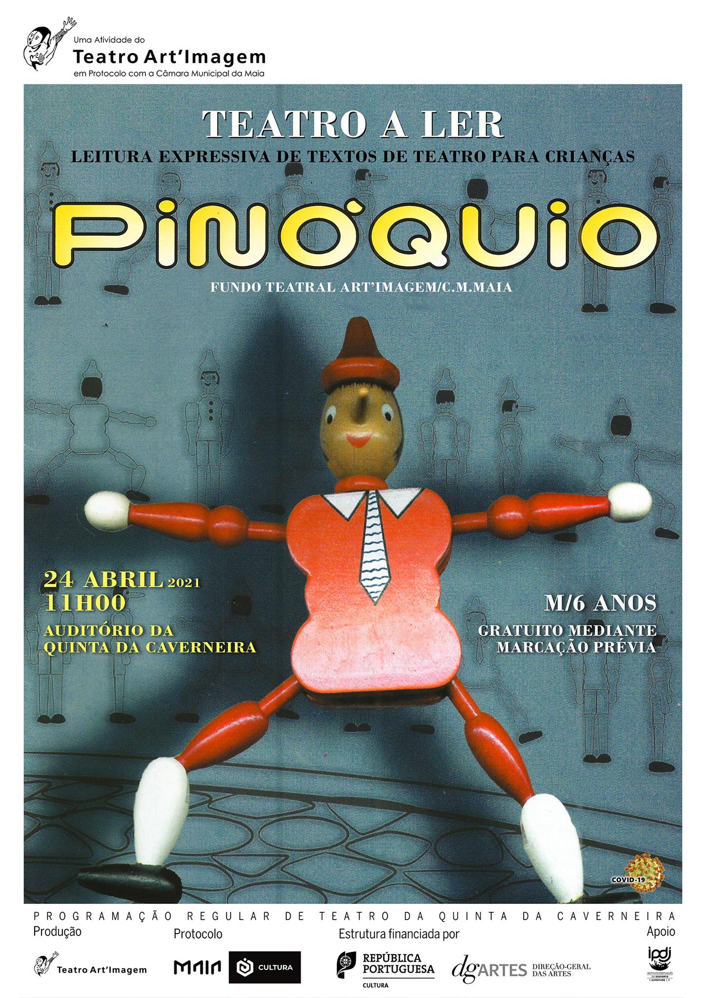 'Pinóquio', de Collodi   Teatro a Ler