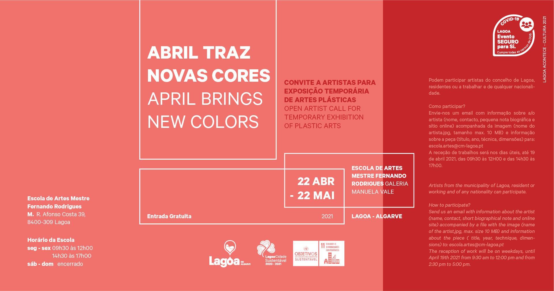 Exposição | 'Abril Traz Novas Cores'