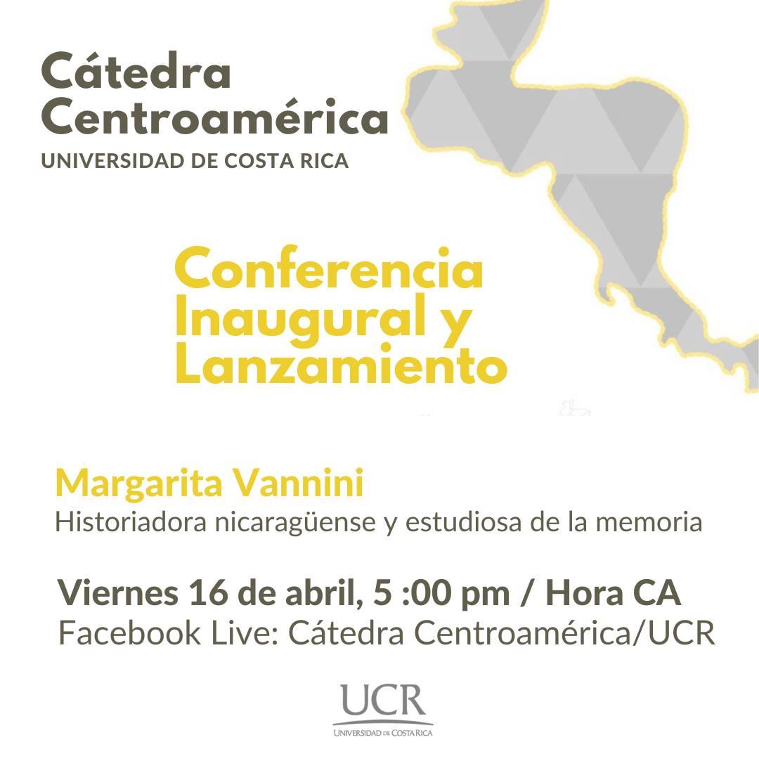 Cátedra Centroamerica - Conferencia Inaugural y Lanzamiento