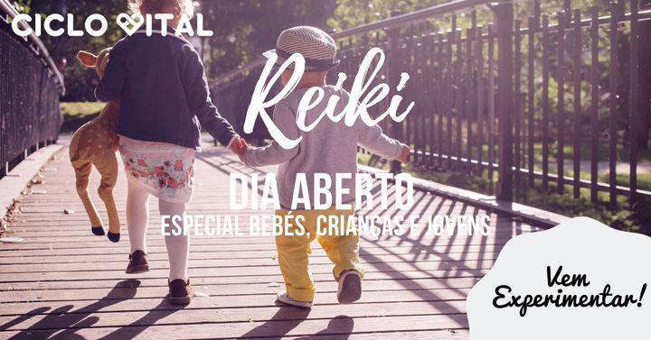 Reiki para bebés, crianças e jovens - dia aberto