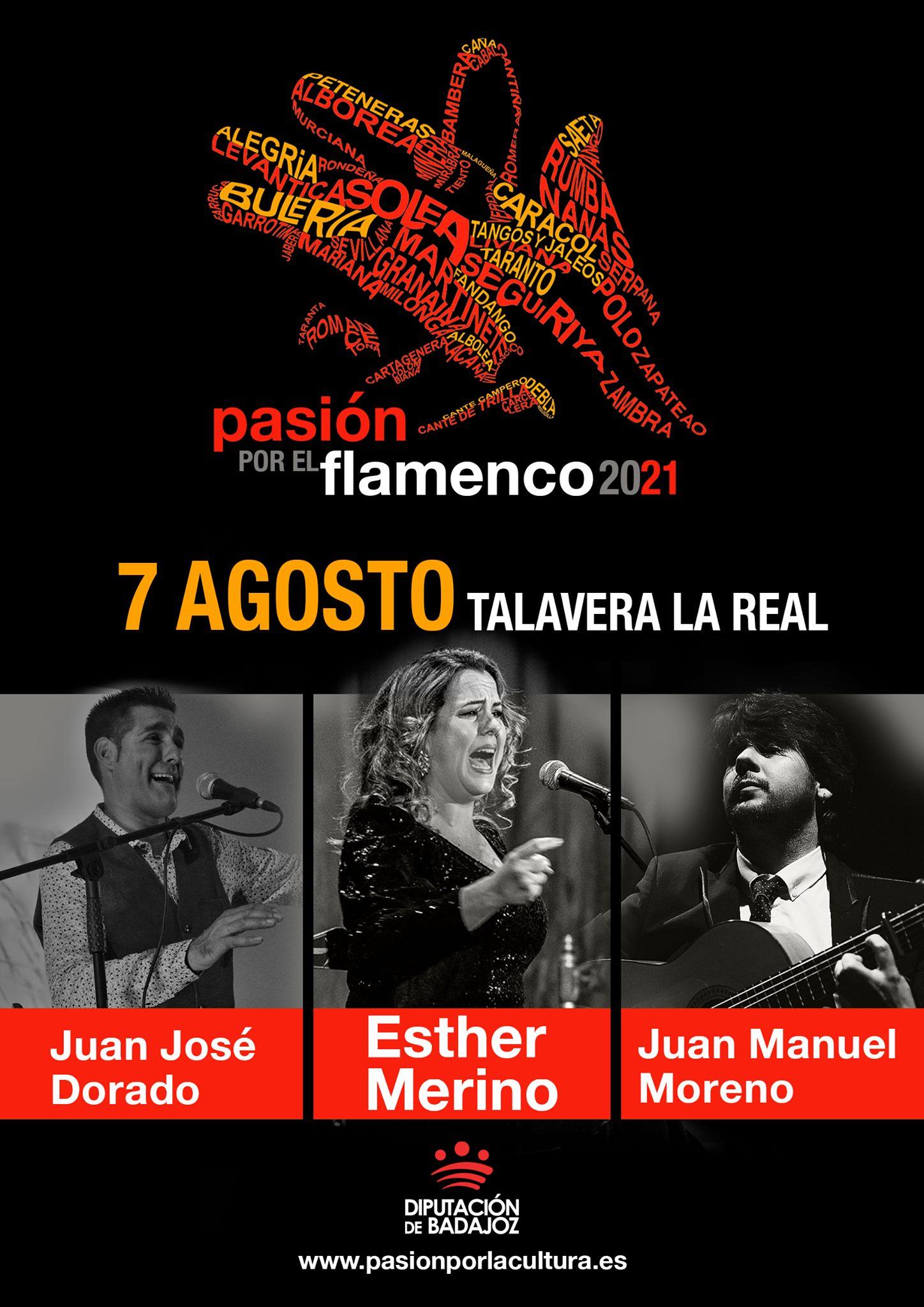 PASIÓN POR EL FLAMENCO   Esther Merino + Juan José Dorado + Juan Manuel Moreno