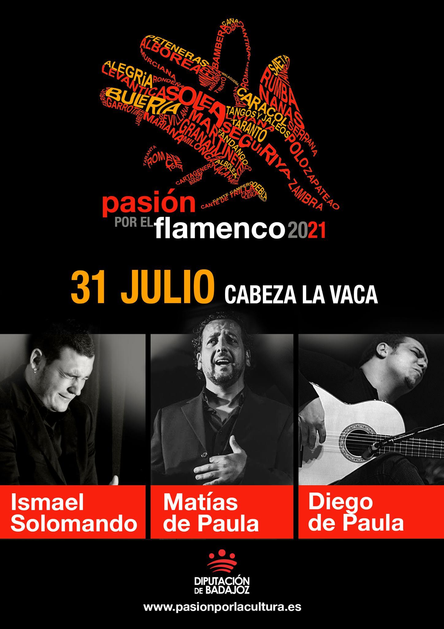 PASIÓN POR EL FLAMENCO   Ismael Solomando + Matías de Paula + Diego de Paula