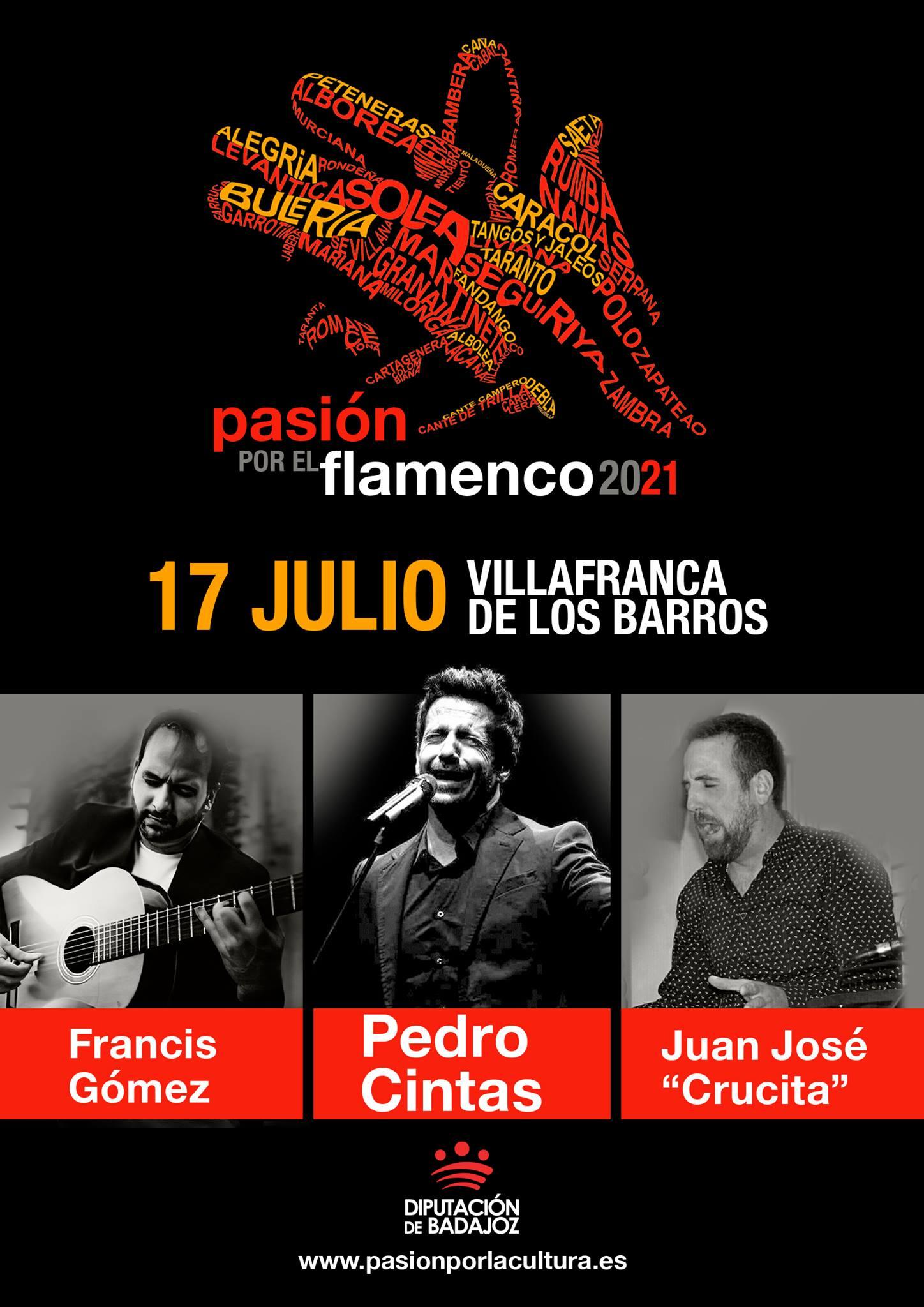 PASIÓN POR EL FLAMENCO   Pedro Cintas + Juan José Crucita + Francis Gómez