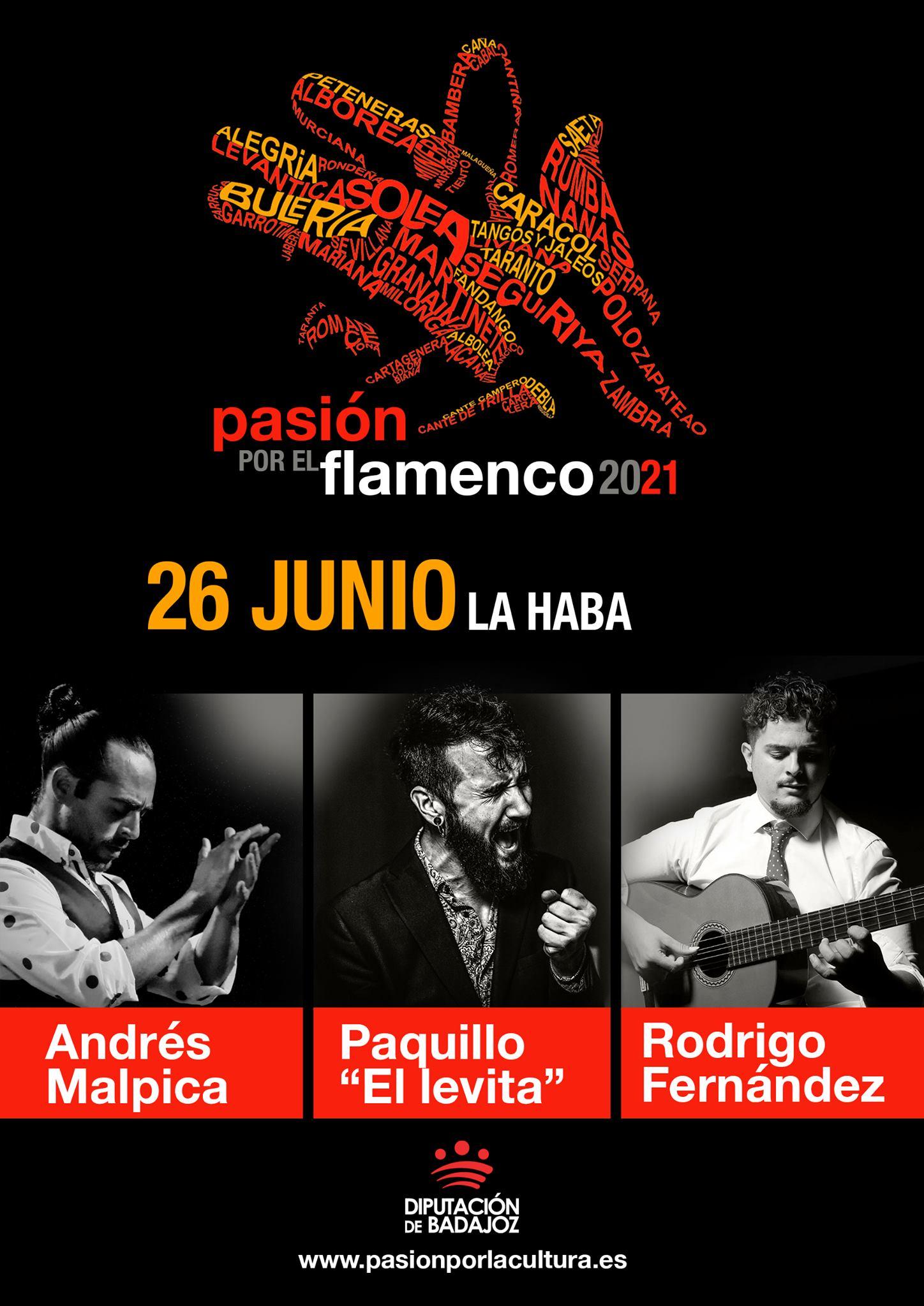 """PASIÓN POR EL FLAMENCO   Andrés Malpica + Paquillo """"El Levita"""" + Rodrigo Fernández"""