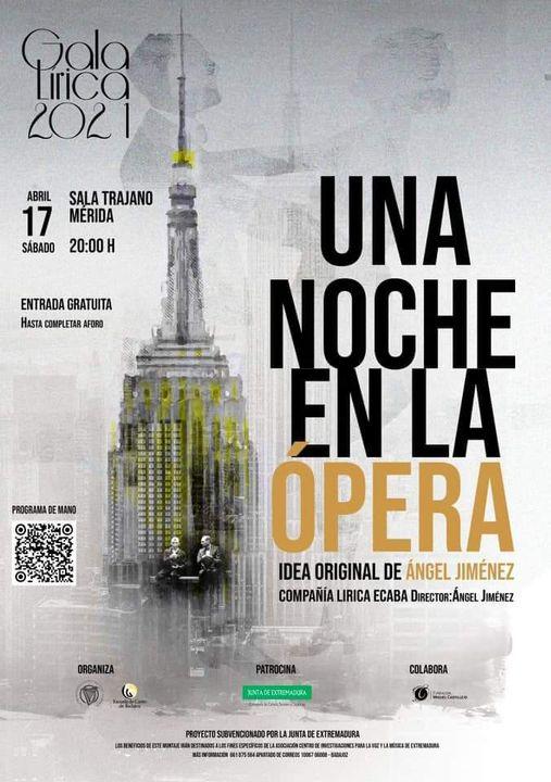 Gala Lírica 2021. Una Noche en la Ópera. Sala Trajano (Mérida) [Ópera]