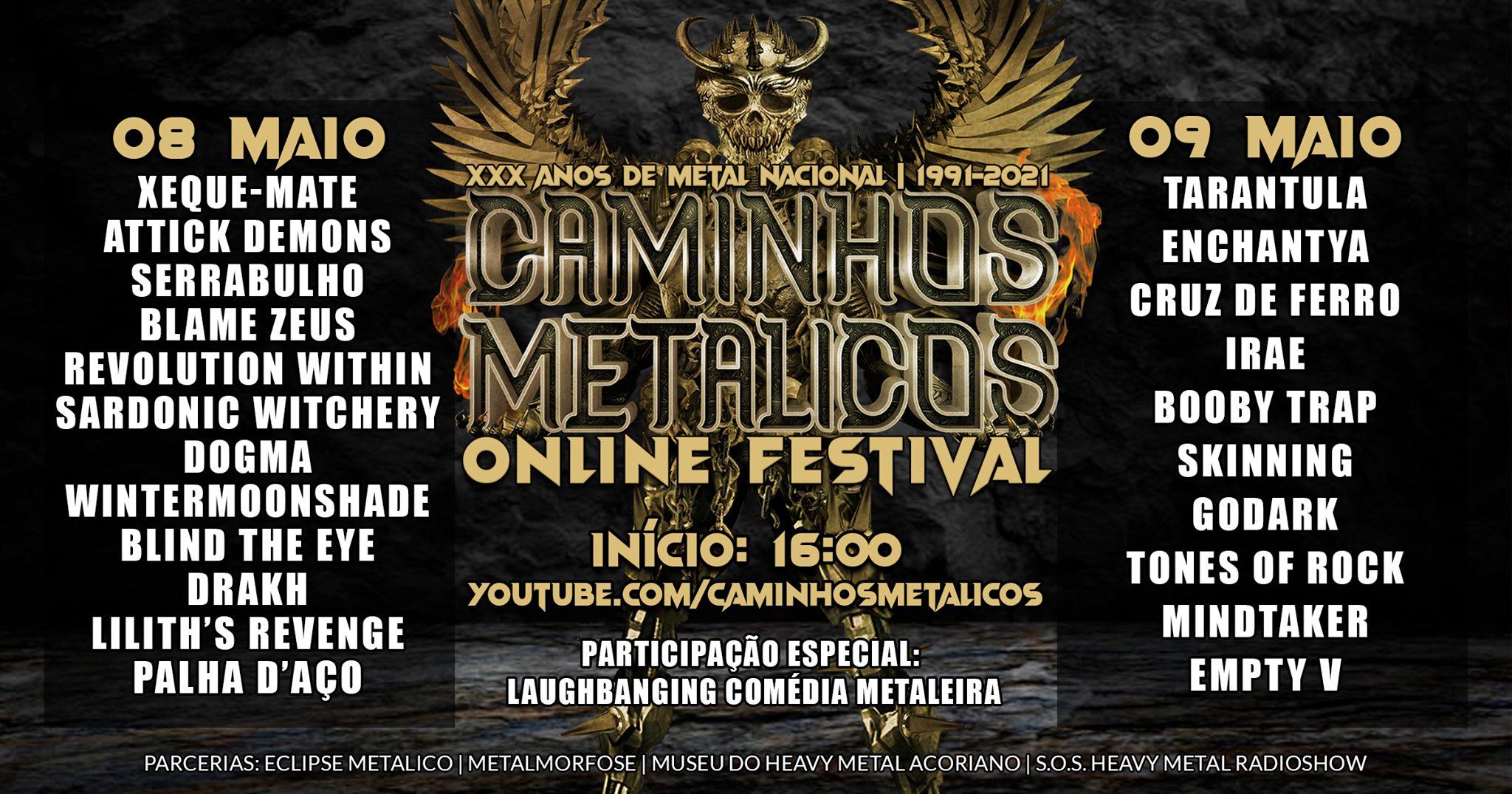CAMINHOS METÁLICOS ONLINE FESTIVAL