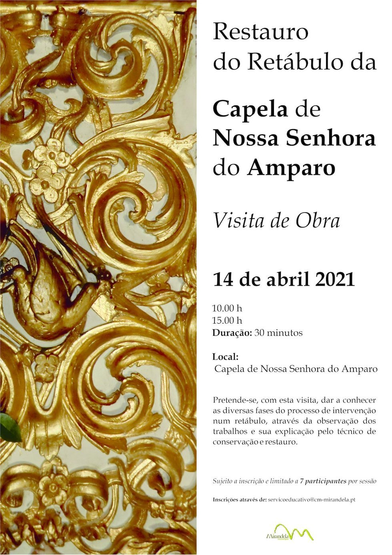 Visita de Obra - Restauro do Retábulo da Capela de N. Sra. do Amparo