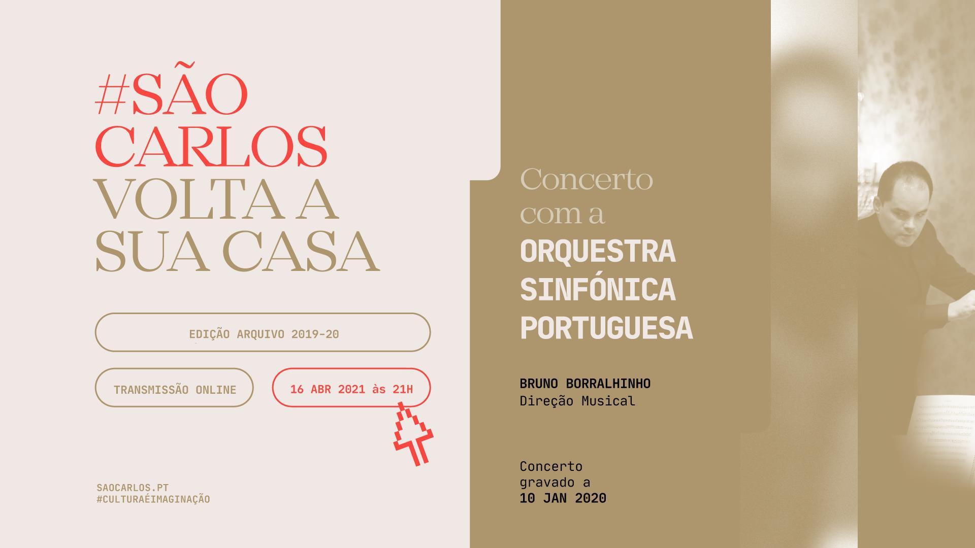Sala online do Teatro Nacional de São Carlos — Concerto Orquestra Sinfónica Portuguesa