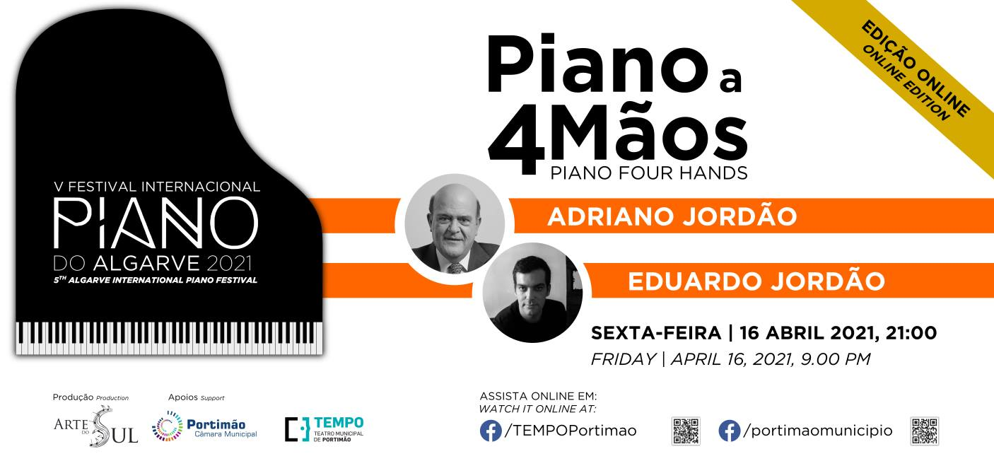 Piano a 4 Mãos: Adriano Jordão e Eduardo Jordão