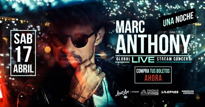 Marc Anthony Live Stream Concert