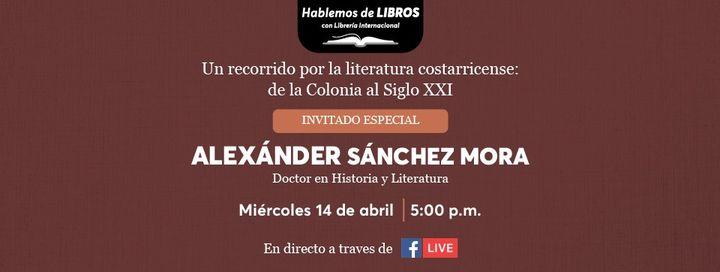 Hablemos de libros con Alexander Sánchez, doctor en Historia y Literatura