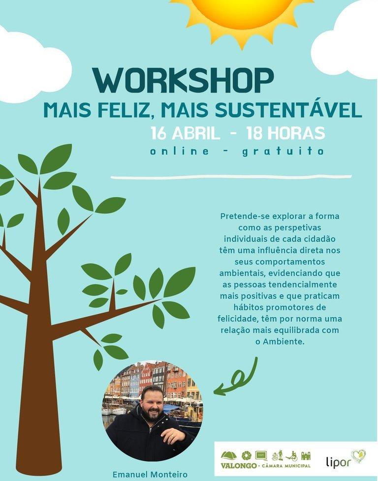 """Workshop """"Mais feliz, mais sustentável"""""""