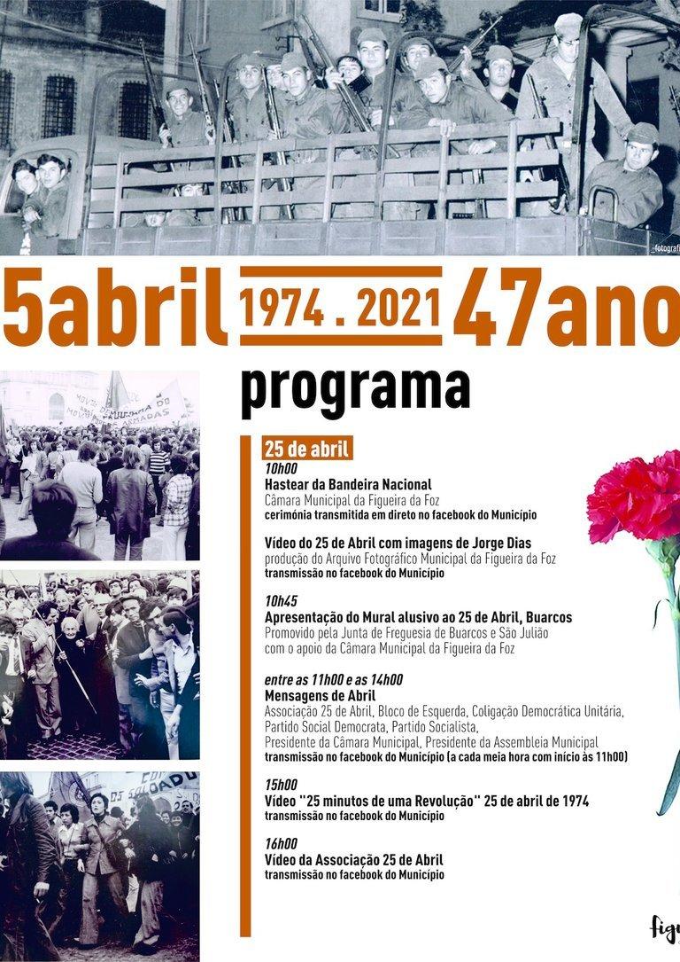 Comemorações do 47.º aniversário da Revolução do 25 de Abril
